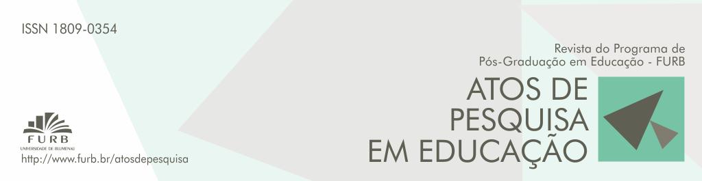 Atos de Pesquisa em Educação, Programa de Pós-Graduação em Educação da FURB